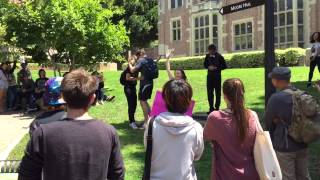 Bigoted Christian preacher SCHOOLED by UCLA gay couple