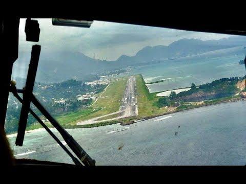Xxx Mp4 Cockpit View Air Seychelles Landing SEZ Airport 13 01 2018 Mahe Island Seychelles HD 3gp Sex