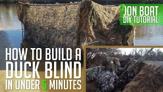 How to build a DIY Duck Blind on your Jon Boat