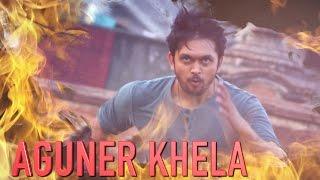 Aguner Khela - Tahsin & Sonia | Musafir (2016) | Lyrical Audio | Arifin Shuvoo | Marjan Jenifa