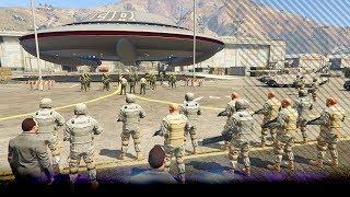 Michael start een intergalactische aanval - Aliens & Ufo's - Noway ZVM (GTA 5 Mods)