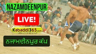 Nazamdeenpur (Jalandhar) Punjab Federation Kabaddi Cup  (Live) 09 Jan 2017