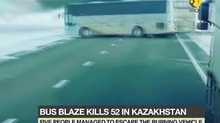 Bus blaze kills 52 in Kazakhstan