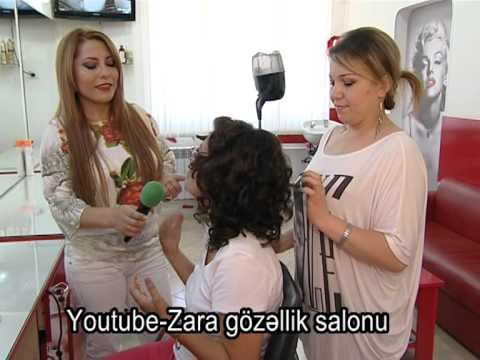 Zara gözəllik salonunda yeni gəlinlik saç düzümləri makiyajı və peşəkar kosmetoloq məsləhəti
