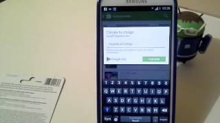 Canjear codigos de tarjetas Google Play