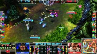 Gambit Gaming vs XDG Game 1 | EU vs NA Battle of the Atlantic 2013 | XD.GG vs GMB G1 Bo3