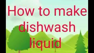 Dish wash liquid making formula. Tamil
