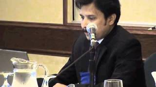 M. Hafiz Rahman presents on the role of medical representatives in rural Bangladesh