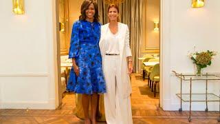 Juliana Awada recibió a Michelle Obama en el CMD