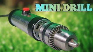 How to make high speed mini Drill at home