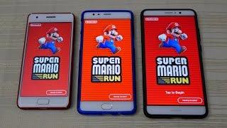 Super Mario Run for Android! Zuk Z2 vs 3T vs Mate 9 [apk] (4K)