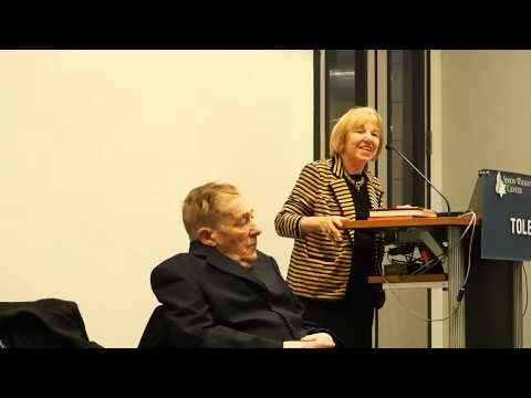 Jack and Ruth Gruener share their story of survival during the MOTNY's 2013 Yom Hashoah program