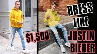 $1,500 DRESS LIKE JUSTIN BIEBER CHALLENGE