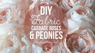 How to Make Realistic DIY Fabric Roses and Peony Flowers