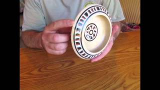 Turning a sycamore bowl with Milliput epoxy putty inlay - part 1