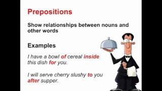 Prepositions | Parts of Speech App