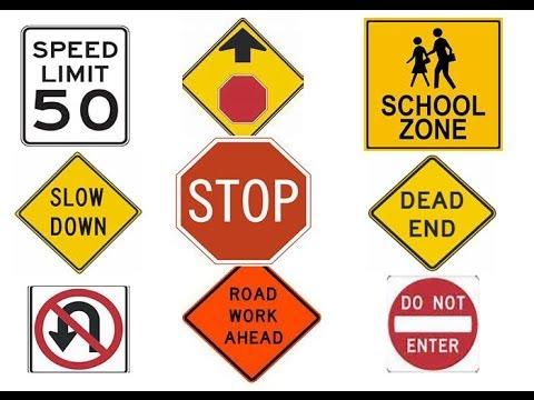 ¡Evítese una multa Aprenda señales de tránsito EEUU.
