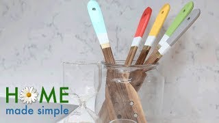 DIY: Paint Everyday Cooking Utensils to Add Color in Your Kitchen | Home Made Simple | OWN