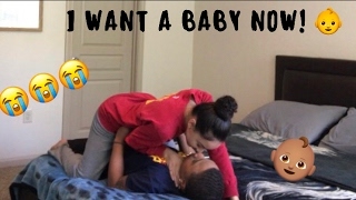 I WANT A BABY NOW PRANK ON BF!!! 😭👶🏽 (GONE WRONG)