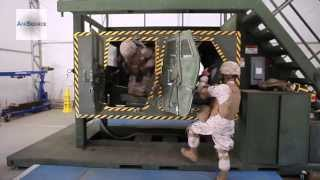 Flipping Humvee - Marines Go Through The Humvee Egress Assistance Trainer