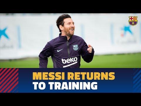 Xxx Mp4 Leo Messi Is Back On Training At The Ciutat Esportiva 3gp Sex