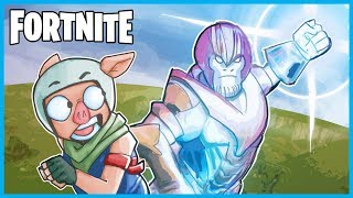 TRYING TO DEFEAT THANOS in Fortnite: Battle Royale! (Fortnite x Avengers Infinity Gauntlet Gameplay)