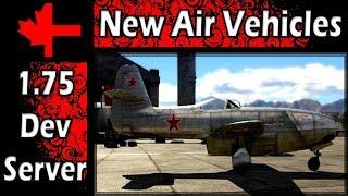 War Thunder - 2ⁿᵈ Dev Server - Update 1.75 - New Aircraft