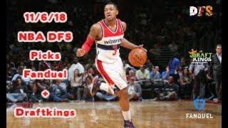 11/6/18 NBA DFS Picks Fanduel + Draftkings