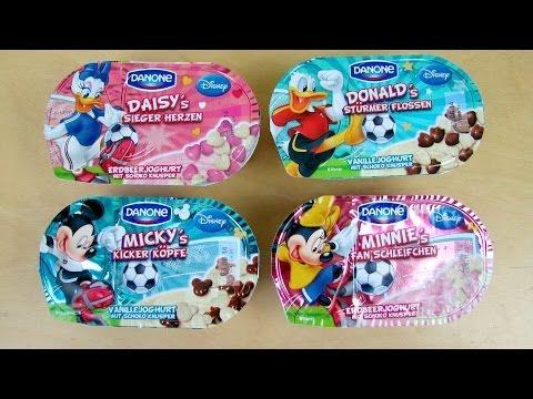 Disney Mickey Minnie Daisy Donald Danone Football Yogurt