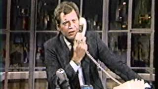 FUNNY PHONE CALL on David Letterman 1980