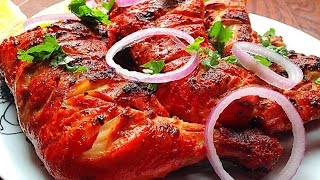 Tandoori Chicken Recipe Pakistani - Tandoori Chicken BBQ 3 Steps  by (HUMA IN THE KITCHEN)