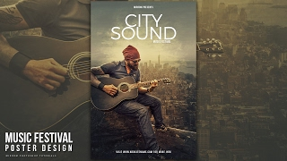 Create a City Sound Music Poster Design In Photoshop CC