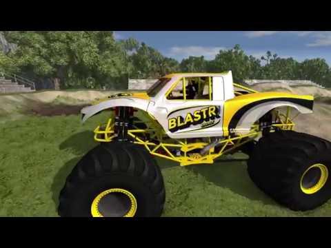 BeamNG.Drive Monster Jam; Public Update 1.02 testing at A.T.E Playgrounds