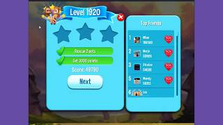 Pet Rescue Saga Level 1920 ~ one booster