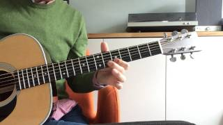 Nobody Knows You When You're Down And Out - Eric Clapton Solo Tutorial