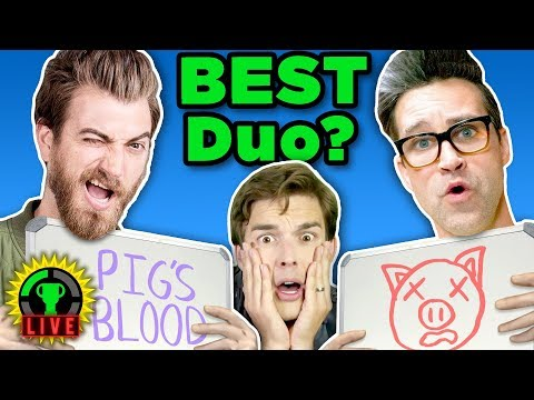 GMM vs GTLive The Newlywed Game ft. Rhett and Link Game Theory Charity Livestream