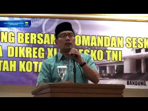 160428 Silahturahmi Walikota Bandung Bersama Komandan Sesko TNI