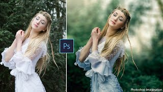 How to Edit Outdoor Portrait in Photoshop | Blur Background