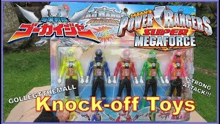 Toy Review Raw video: POWER RANGER SUPER MEGAFORCE / SUPER SENTAI GOKAIGER Action figures (Bootleg)