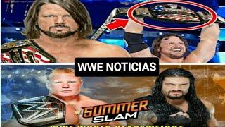 WWE NOTICIAS : Planes para Roman Reings vs Brock Lesnar /AJ Styles campeón de los Estados Unidos