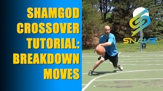 Shammgod Crossover Tutorial - How To Kyrie Irving Chris Paul Basketball Moves Highlights
