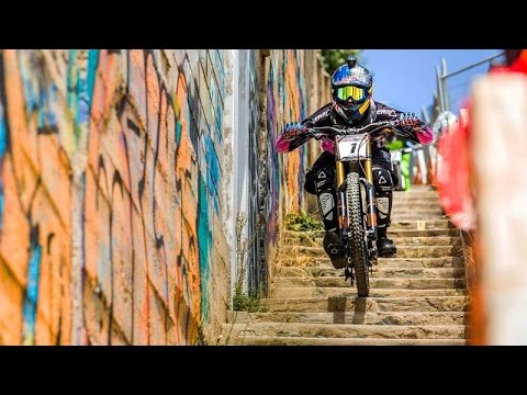 Urban Mountain Bike Racing In the