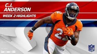 C.J. Anderson Powers Through the Dallas Defense!   Cowboys vs. Broncos   NFL Wk 2 Player Highlights