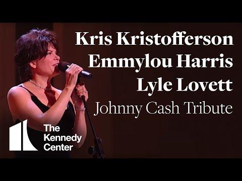 Kris Kristofferson Lyle Lovett Emmylou Harris Johnny Cash Tribute 1996 Kennedy Center Honors