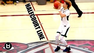LaMelo Ball Crazy Halfcourt Shot! POINTS at The Line Then PULLS UP From It! LOL Stephen Curry Who!?