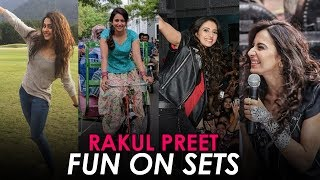 Rakul Preet Rare & Never Seen Before   Rakul Preet Having Fun On The Sets  Rakul Preet Funny Moments