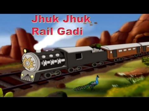 Nursery Rhymes - Jhuk Jhuk Rail Gadi, ' Hindi Animation'