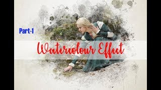 Create Watercolor Effect in Photoshop without action key
