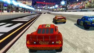 Cars 1 the Videogame 360 - Lightning Mcqueen & Mack Truck VS SMASHERVILLE (Piston Cup Rookie)