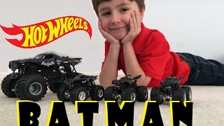 HOT WHEELS Monster Jam Batman large truck unboxing and review new 2016!